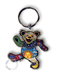 Grateful Dead - Psychedelic Sun Dancing Bear Keychain