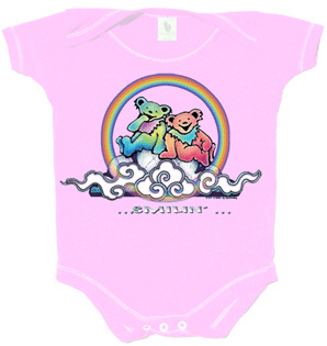 Grateful Dead - Smilin' Bears on a Cloud Romper / Pink