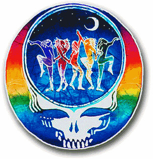 Grateful Dead - Dance Your Face Round Window Sticker