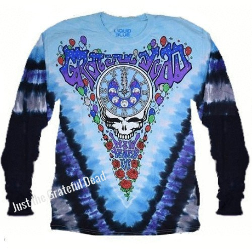 Grateful Dead - Midnight Hour Long Sleeve Tie Dye T Shirt