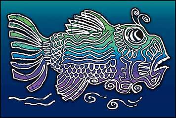 Jerry Garcia - Fish Art Window Sticker