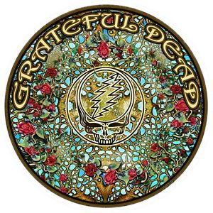 Grateful Dead - Woodcut Mandela Window Sticker