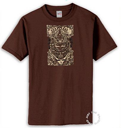 Grateful Dead - Aiko Retro Brown T Shirt
