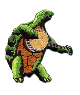Grateful Dead - Terrapin with Banjo Embroidered Patch