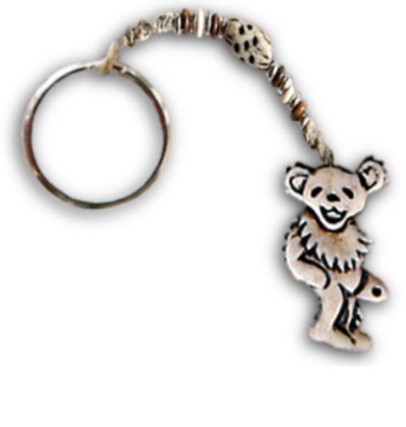 Grateful Dead - Dancing Bear Bone and Hemp Keychain