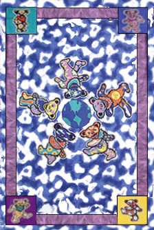 Grateful Dead - Bears Around the World Tapestry