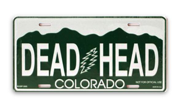 Grateful Dead - Colorado Vanity Plate