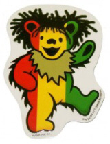 Grateful Dead - Rasta Bear Sticker