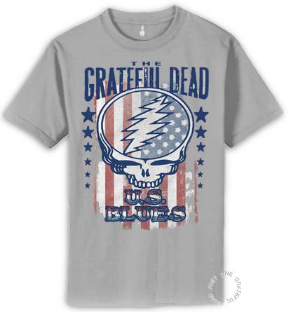Grateful Dead - U S Blues Heather Gray T Shirt