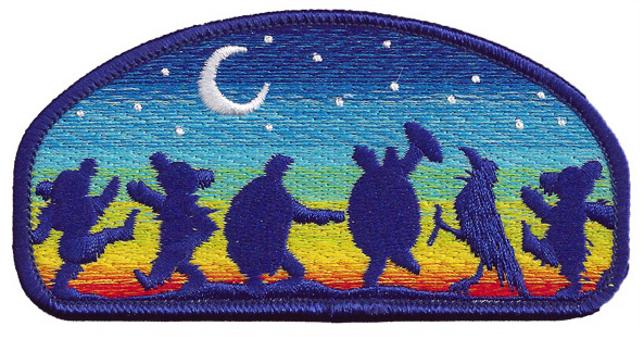 Grateful Dead - Moondance Iron On Embroidered Patch