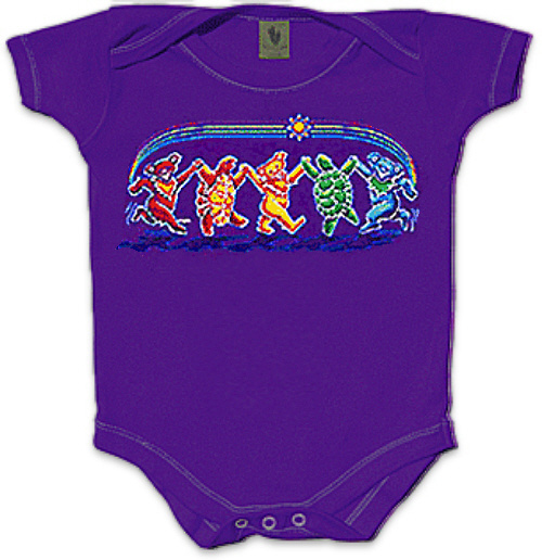 Grateful Dead - Rainbow Critters Infant Romper