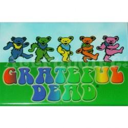 Grateful Dead - Rainbow Dancing Bears Magnet