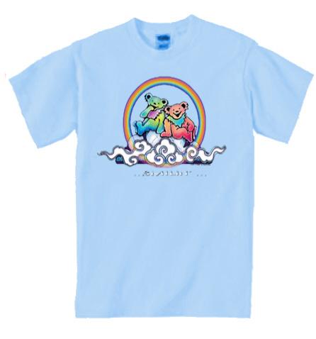 Grateful Dead - Smilin' Bear on a Cloud Youth T-Shirt/blue