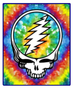 Grateful Dead - Steal Your Face Tie Dye Fleece Blanket